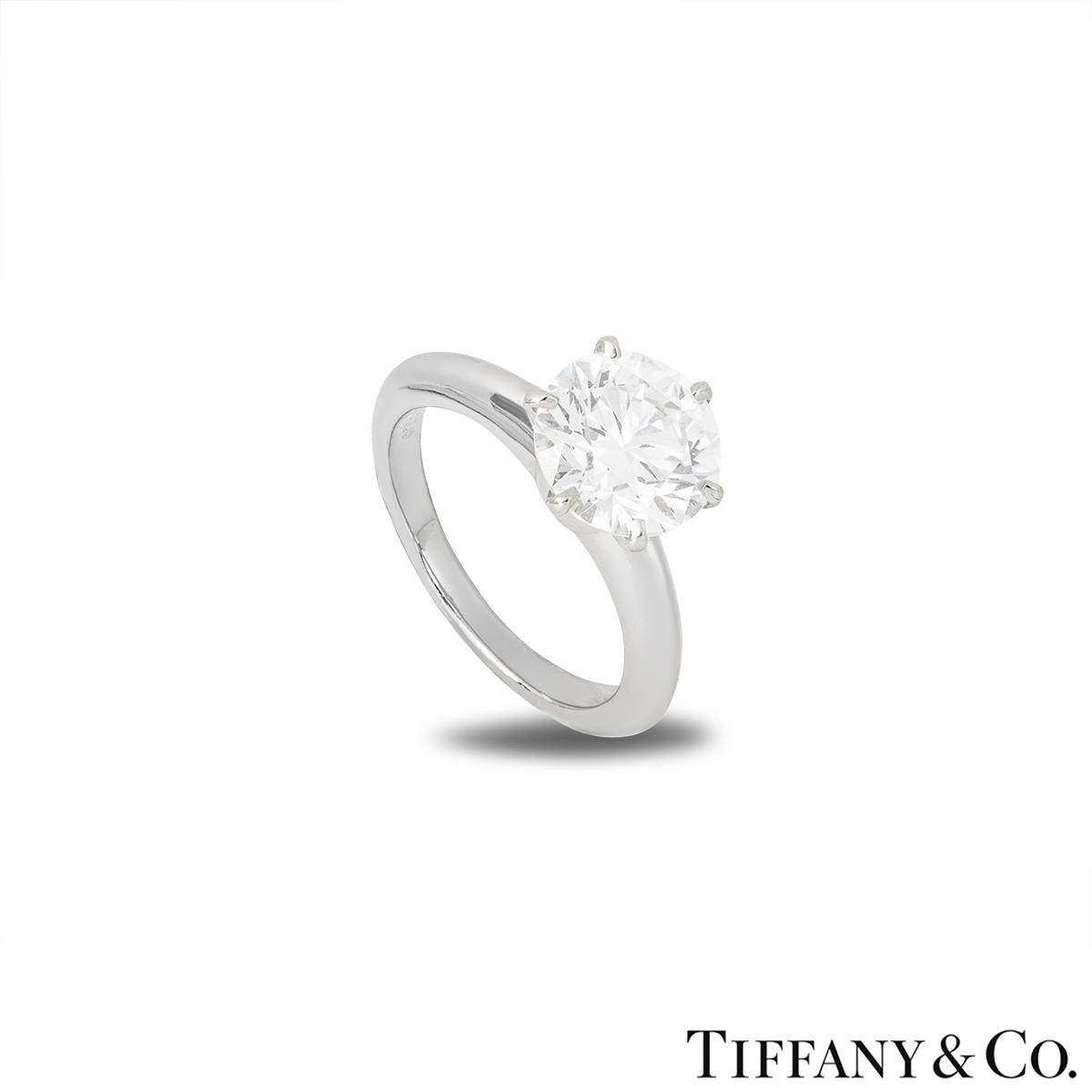 Tiffany & Co. Platinum Diamond Setting Ring 2.13ct H/VVS1 XXX